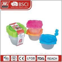 Comida de microondas plástico recipiente 0.35L(2pcs)