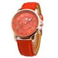 New Design Girls Classic Leather Band Quartz Watch