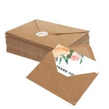 Belle main Kraft joyeux anniversaire carte de voeux papier enveloppe personnalisée salutation Merci cartes