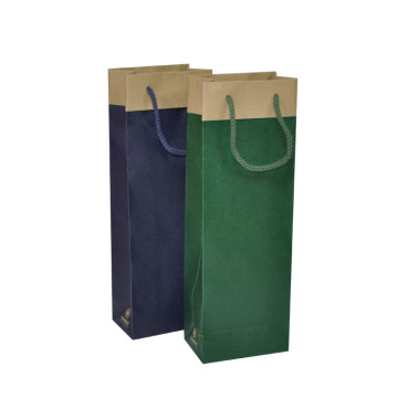 Harga Murah Custom Kraft Paper Wine Packaging Bag