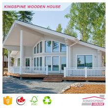 chalé de madeira com toras de madeira casa de guarda pré-fabricada