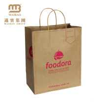 China Atacado Eco Friendly reutilizável cor personalizada compras Carry Brown Kraft Paper Bag Fabricante