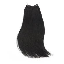 No Tip Hair with Micro Ring Brazilian Hair 8-30inch Black Straight Human Vigin Remy Hair Feather Shape Hair Extension