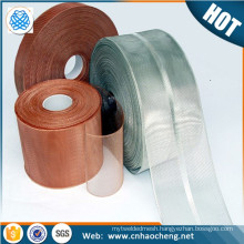 Fire resistant 30 mesh tinned copper wire mesh tapes for electrical shielding