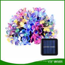 Luzes Da Corda Solar ao ar livre 21FT 50 LED Flor Flor de Fadas de Luz para o Jardim Do Pátio Festa de Casamento Quarto de Decoração de Natal