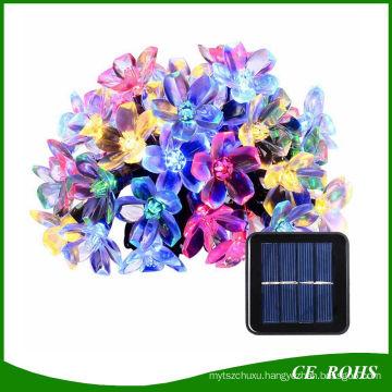 Outdoor Solar String Lights 21FT 50 LED Blossom Flower Fairy Light for Garden Patio Wedding Party Bedroom Christmas Decoration