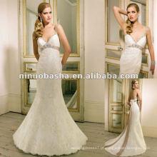 Sweetheart Neckline, Glamorous Figure-Hugging Lace Wedding Dress