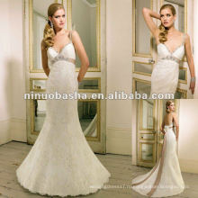 Милая декольте,гламурный Рисунок-обнимать кружева свадебное платье