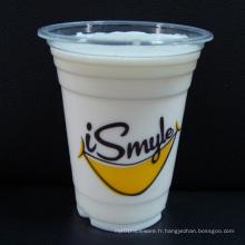 Tasses en plastique pour le thé de bulle / Boba, les milk-shakes et les cocktails surgelés