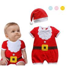 Christmas Pattern Short Sleeve Snowman Baby Rompers Baby Boy Suit Romper