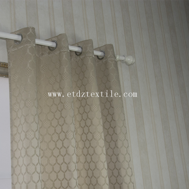 European Popular Yarn Dyed Curtain Fabric WZQ190 Golden