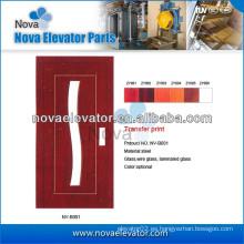 Puerta abatible semiautomática del elevador del acero inoxidable, puertas de la elevación