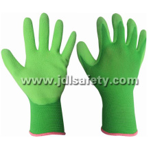 Colorful Nylon Work Gloves with Latex Coated (LB3016F) (CE APPROVED)