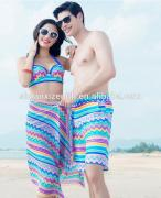 fashion lovers beach skirts for girl/sexy fancy design underpants for men/summer lover's beach clothes
