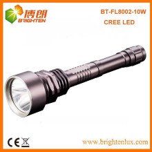Factory Outlet 3.7v Hunting Metal Heavy Duty 10w cree xml2 t6 led Rechargeable Super bright Flashlight with 2*18650 Battery