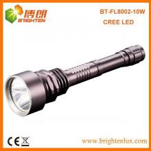 Fábrica de saída 3.7v caça de metal Heavy Duty 10w cree xml2 t6 led Lanterna brilhante super recarregável com 2 * 18650 Bateria