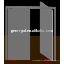 Double porte battante en acier pour couloir