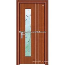 Наиболее простой дизайн стали деревянная дверь JKD-2003(Z), сделанные в Китае