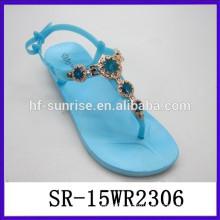 Roman fashion PVC womens sandals flat sandals women ladies flat sandals