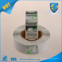 Etiqueta antirrobo antirrobo RFID de encargo / etiqueta engomada