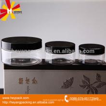 120ml, 200ml de belleza cosméticos pet claro plástico jar