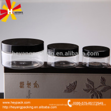 120ml,200ml beauty cosmetic pet clear plastic jar