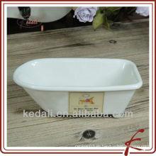 China de fábrica Venta al por mayor de porcelana de jabón de cerámica Jabón titular
