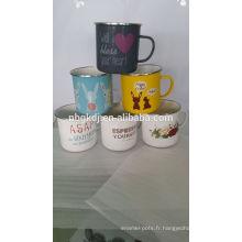 émail lait / café / eau tasse de tube émail du japon lait / café / eau tasse de tube japon