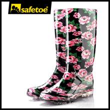Elegante botas de chuva para as mulheres W-6040C