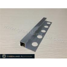 Prata brilhante Alumínio Quadrado Schluter Strip10mm Altura