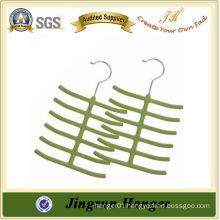 New Design Multi-purpose Flocked Hanger for Tie/ Sock