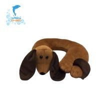 almohada de cuello de viaje en forma de u animal