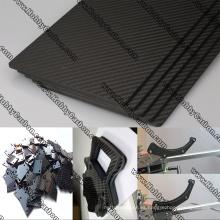 Placa de corte CNC de fibra de carbono real 3K