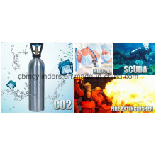 Aluminum Gas Cylinders for Beverage Uses/Scuba/Medical Oxygen Breathing