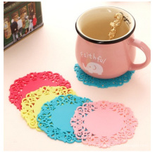 Padrão Lace Candy Coffee Cup Tapete de isolamento térmico Cup Pad