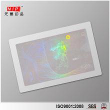 Customized Anti-fake Transparent Hologram for Id Card
