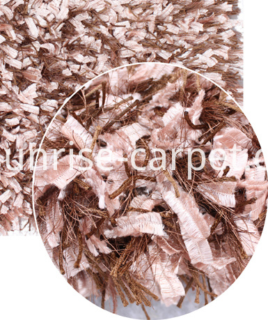 Silk Viscose Feather Yarn mix Shaggy Rug