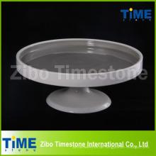 3 Größe Set Keramik Kuchen Display-Ständer aus Steinzeug Material (TMM15072801)