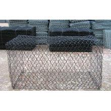 Revêtement en PVC après galvanisation Gabion Mesh / Stone Cage / Gabion Box