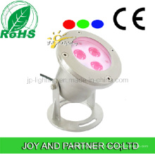 9W Multi-Colored LED Underwater Spotlight with Bracket (JP90036)