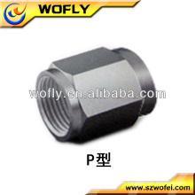Bouchons en tôle d'aluminium en acier effilé