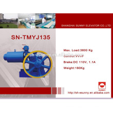 High-efficient energy saving VVVF control geared traction machine without bed plate with competitive pricing SN-TMYJ135