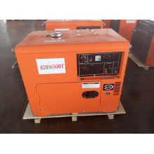 AC Single Phase 50Hz/4.2kw Silent Air-Cooled Diesel Generator for Hotel and Home Use