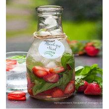 500ml Round Clear Empty Beverage Glass Juice Bottle