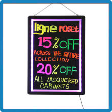 High brightness RGB 5050 outdoor remote control advertising led display flash board with free accessories