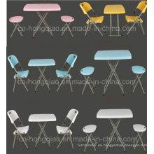 Muebles para el hogar Plástico portátil altura ajustable mesa plegable (HQ-SJ32)