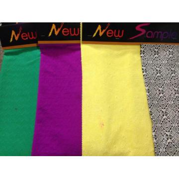 Tecido de malha jacquard de algodão colorido para mulheres