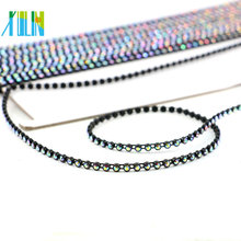 GBA006 Trim By The Yard Wholesale Black Plastic Rhinestone