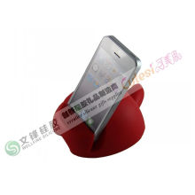 Red Iphone 4 Silicone Cases Mobile Display Stand Good For Phones Company Promotional Gifts