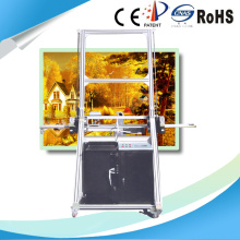 Horizontal 3D photo mural printing machine